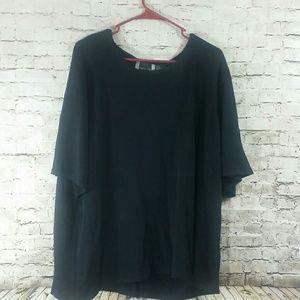 Maggie Barnes 4x Silk blend top all black